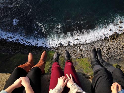 Ireland Cliffs and Shoes